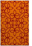 rug #982685 |  red-orange natural rug