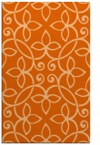 rug #982753 |  red-orange traditional rug