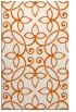 rug #982761 |  red-orange damask rug