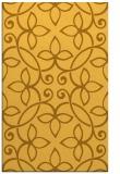 rug #982805 |  yellow traditional rug