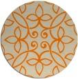 rug #982845 | round beige natural rug