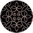 rug #982857   round black natural rug
