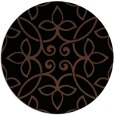 rug #982861 | round brown damask rug