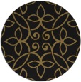 rug #982873 | round mid-brown traditional rug