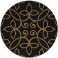 rug #982873 | round mid-brown damask rug