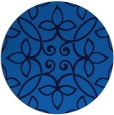 rug #982877 | round blue traditional rug