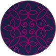 rug #982881 | round blue traditional rug