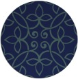rug #982885 | round blue traditional rug