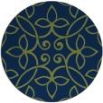 rug #982889   round blue damask rug