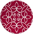 rug #982965 | round red natural rug