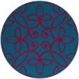 rug #982969   round blue-green natural rug