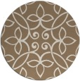rug #982997 | round mid-brown damask rug