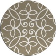 rug #983001 | round mid-brown traditional rug