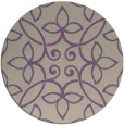 rug #983029 | round purple traditional rug