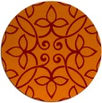 rug #983045 | round red-orange traditional rug