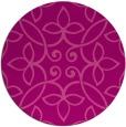 rug #983061   round pink damask rug