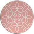 rug #983073 | round white natural rug