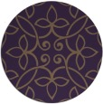 rug #983085 | round mid-brown damask rug