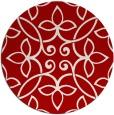 rug #983093   round red damask rug