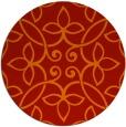 rug #983097   round red damask rug