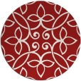 rug #983101 | round red rug