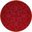 rug #983105   round red traditional rug
