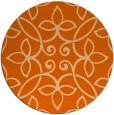 rug #983113 | round red-orange rug