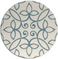 rug #983141   round white traditional rug