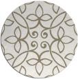 rug #983145 | round beige damask rug