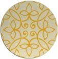rug #983149 | round yellow damask rug