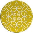 rug #983161 | round yellow damask rug