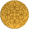 rug #983165 | round yellow traditional rug