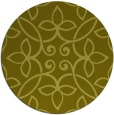 rug #983173 | round light-green damask rug