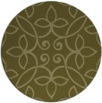 rug #983185 | round light-green damask rug