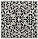rug #983569 | square black damask rug