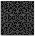 rug #983573 | square black damask rug
