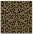 rug #983593 | square mid-brown damask rug