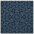 rug #983605   square blue-green damask rug