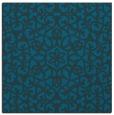 rug #983633 | square blue-green damask rug
