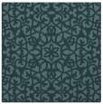 rug #983641   square blue-green damask rug