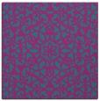 rug #983649 | square blue-green damask rug