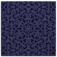 rug #983653 | square blue-violet damask rug