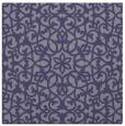 rug #983657 | square blue-violet damask rug