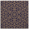 rug #983673 | square blue-violet damask rug