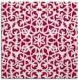 rug #983685 | square red damask rug