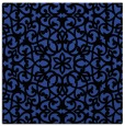rug #983737 | square black damask rug