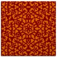rug #983765 | square red-orange geometry rug