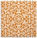 rug #983769 | square orange damask rug