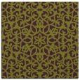 rug #983801 | square green damask rug