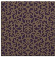 rug #983805 | square purple damask rug